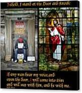 Behold I Stand At The Door And Knock Composite Canvas Print