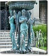 Beiger Mansion Fountain  Mishawaka Indiana Canvas Print