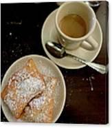 New Orleans Beignets And Coffee Au Lait  Canvas Print