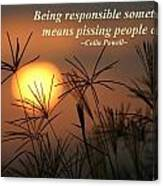 Being Responsible  Canvas Print