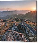 Sunset From Beinn Ghlas - Scotland Canvas Print