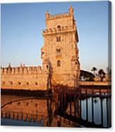 Belem Tower At Sunrise In Lisbon Canvas Print
