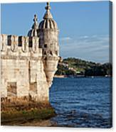 Belem Tower Fortification On The Tagus River Canvas Print