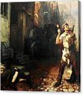 Belgian Ferdinand Pauwels The Plague In Ypres Canvas Print