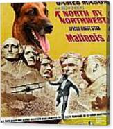 Belgian Malinois Art Canvas Print - North By Northwest Movie Poster Canvas Print