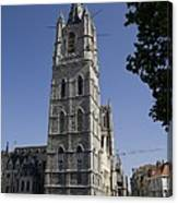 Belgium. Ghent. Bell Tower Of The City Canvas Print