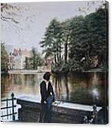 Belgium Reflections In Water Canvas Print