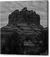 Bell Rock In Black White Canvas Print