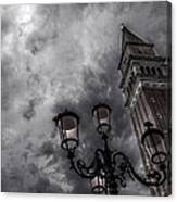 Bell Tower And Street Lamp Canvas Print