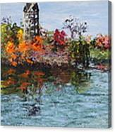 Bell Tower At The Botanic Gardens In Autumn Canvas Print