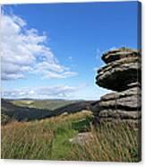 Bellever Tor On Dartmoor Canvas Print