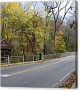 Bells Mill Road In Autumn Canvas Print