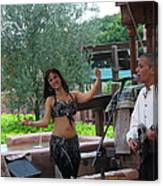 Belly Dancer And Performer At Morocco Pavilion Canvas Print