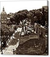 Below The Capitoline Hill Canvas Print