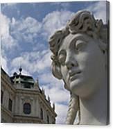 Belvedere Gardens Statue Canvas Print