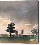 Bemis Road -1    Saline Michigan Canvas Print