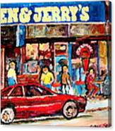 Ben And Jerrys Ice Cream Parlor Canvas Print