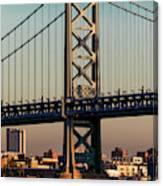 Ben Franklin Bridge Over Delaware River Canvas Print