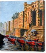 Benaras Ghats Canvas Print