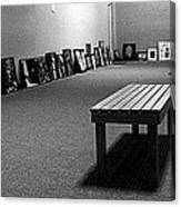 Bench Alone In Pre-show Gallery Canvas Print