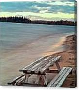 Bench And Table  Canvas Print