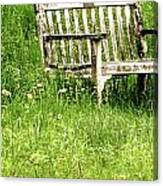 Bench At Hillstead Canvas Print