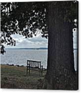 Bench At Old Jamestown Canvas Print