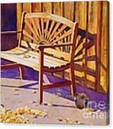 Bench At Sharlot Hall Canvas Print