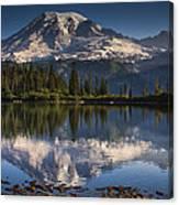 Bench Lake Sunrise Canvas Print
