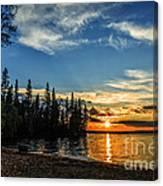 Beautiful Sunset At Waskesiu Lake Canvas Print