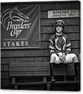 Benches For Jockeys Only Canvas Print