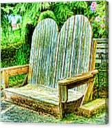 Benches II Canvas Print