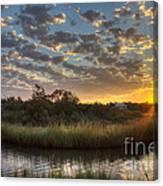 Bend In The Bayou Sunrise Canvas Print