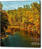 Bend In The Navasota Canvas Print