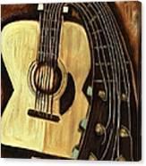 Bending Strings Guitar Art Print Canvas Print