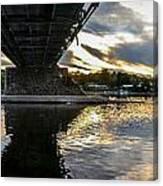 Beneath The New Hope - Lambertville Bridge Canvas Print