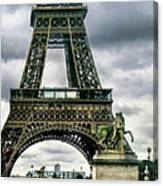 Beneath The Eiffel Tower Canvas Print