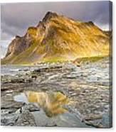 Beneath The Mountain Canvas Print