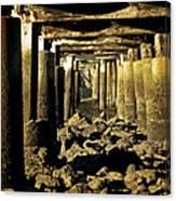 Beneath The Pier Canvas Print