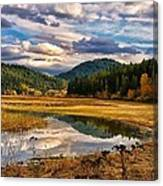 Benewah Lake Wild Rice Fields Canvas Print