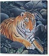 Bengal Tiger Wild Life Realistic Painting Water Color Handmade Artwork India Uk Canvas Print