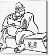 Benito Mussolini Cartoon Canvas Print