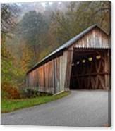 Bennett Mill Covered Bridge Canvas Print