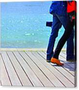 Benodet Boardwalk Canvas Print