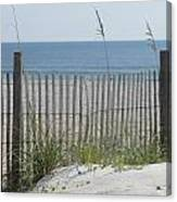 Bent Beach Fence Canvas Print
