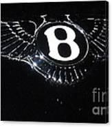 Bentley Logo Hood Ornament #  2 Canvas Print