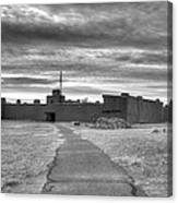 Bents Old Fort - Bw Canvas Print
