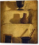 Bent's Old Fort Kitchen Fireplace Canvas Print