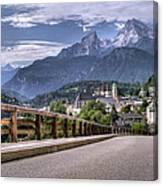 Berchtesgaden Road And Mountain Canvas Print