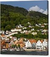 Bergen Harbor Canvas Print